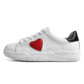 Superelephant Heart White Sneakers (8709-1)