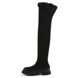 Superelephant Button Black Boots (AKDA711-S1)