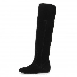Superelephant Flat Black Boots (FZ1501)