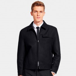 Basique Stylish Flap Black Jacket (08.0015)