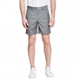Basqieue Gloss Rolled Chino Grey Shorts (21.0013)
