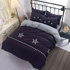 Aix Star Print Purple Bed Linen (XJJ17002)