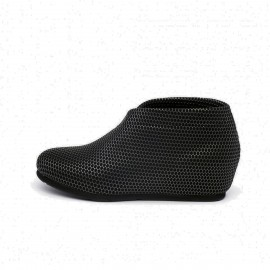 Jady Rose Hive Pattern Knitted Crossing Gun Flats (17DR10291)