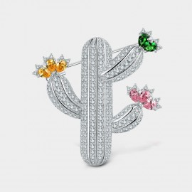 Seventy 6 Cactus White Brooch (5967)