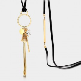 Seventy 6 Happiness Dimension Gold Long Chain (7347)