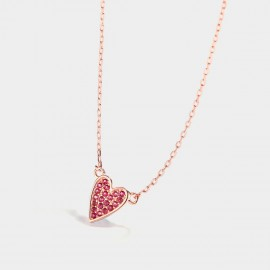 Seventy 6 Loving Heart Rose Necklace (B2514)