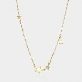 Caromay Stars Chain Champagne Gold Necklace (X0983)
