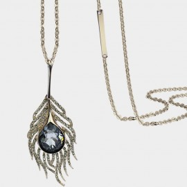 Caromay Crystal Plume Blue Long Chain (X1724)