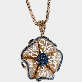 Caromay Hollow Bohemian Flower Gold Long Chain (X1731)