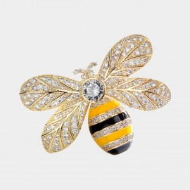 Caromay Queen Bee Champagne Gold Brooch (T0310)