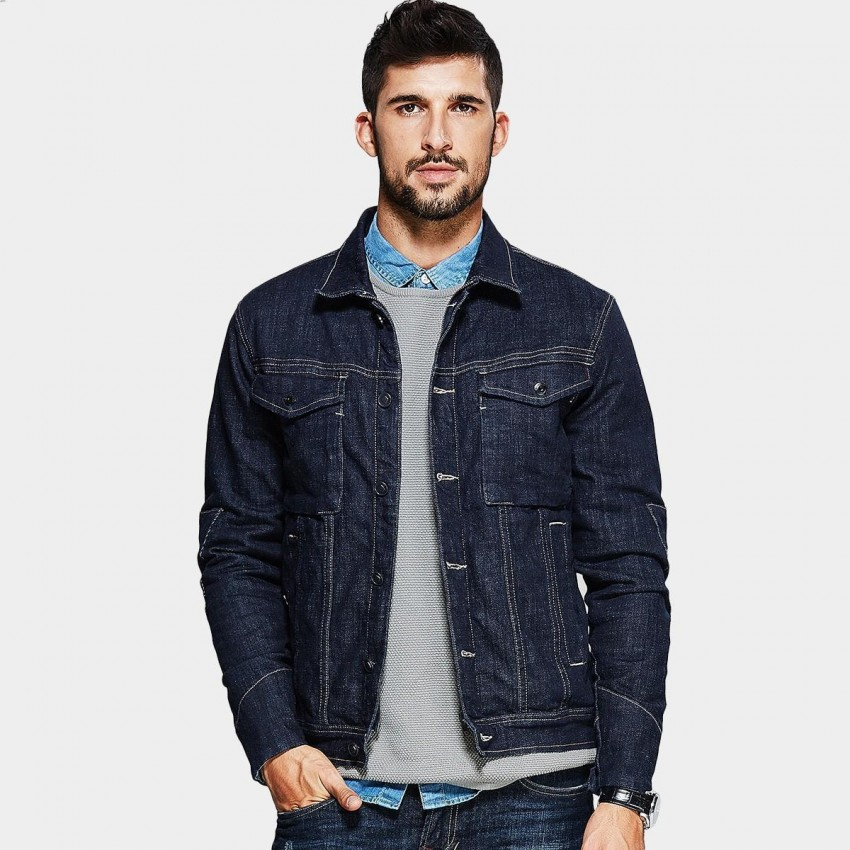 Keugou Denim Navy Jacket (RW-76101)