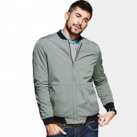 Kuegou Structured Bomber Green Jacket (UW-0726)