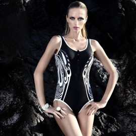 Balneaire Geometric Black One Piece (60597)