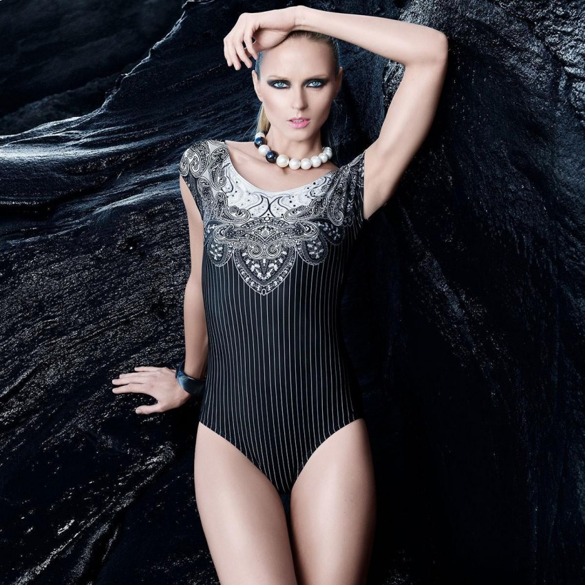 Balneaire Classy Striped Black One Piece (60675)