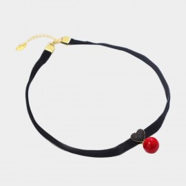Caromay Sweet Heart Red Choker Necklace (X1966)
