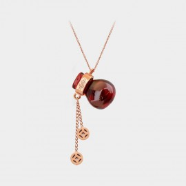 Caromay Fortune Gourd Rose Gold Choker Necklace (X2013)