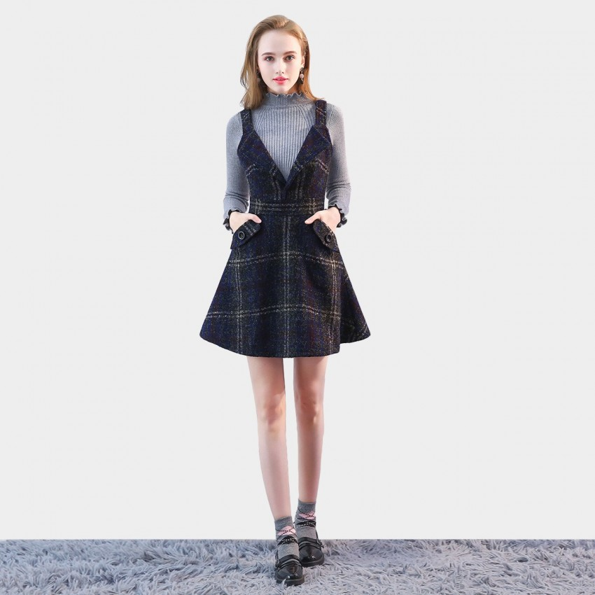 Buy SSXR Classy Style Navy Dress online, shop SSXR with free shipping