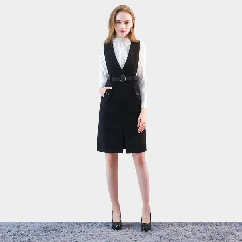 Buy SSXR Aesthetic Essence Black Dress online, shop SSXR with free shipping