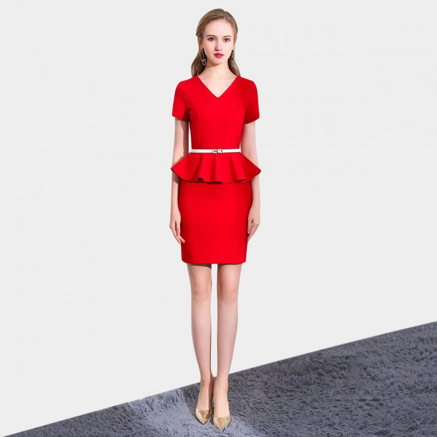 Buy SSXR Timeless Touch Red Dress online, shop SSXR with free shipping