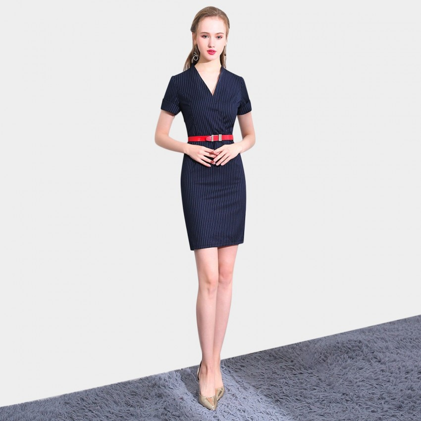 Buy SSXR Subtle Impression Navy Dress online, shop SSXR with free shipping