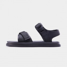 Herilios Nylon Adjustable Strap Black Sandals (H7105L23)