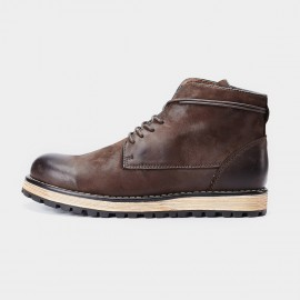 Herilios Tinted Simplicity Vintage Ankle Brown Boots (H7305G37)