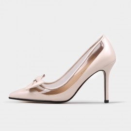 Jady Rose Classic Ribbon Stiletto Monochrome Apricot Pumps (18DR10522)