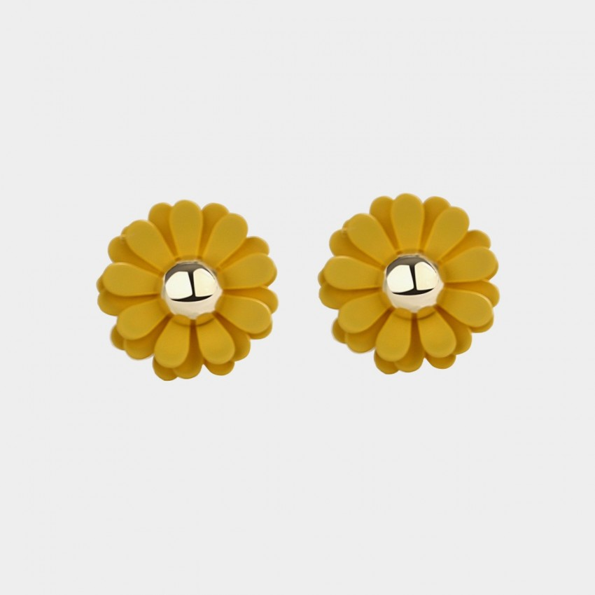 819fdca34 Caromay Young Daisy Yellow Earrings (E3408) - 0cm