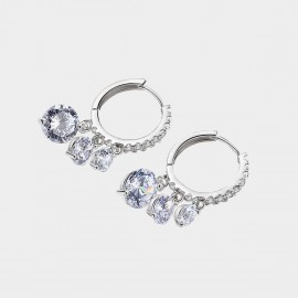Caromay Lustre Silver Earrings (E3422)