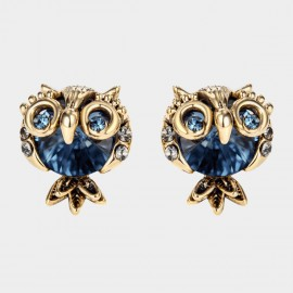 Caromay Pet Owl Blue Earrings (E3469)
