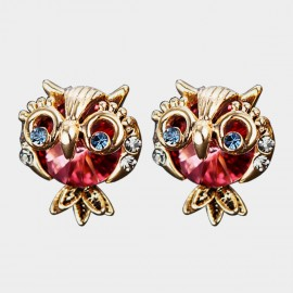 Caromay Pet Owl Pink Earrings (E3469)