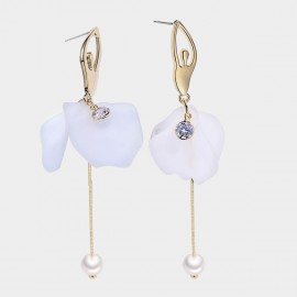 Caromay Lily Petalss White Earrings (E3480)