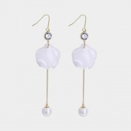 Caromay Falling Petalss White Earrings (E3491)