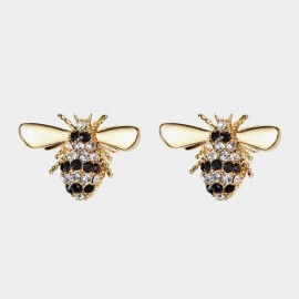 Caromay Flying Bee Gold Earrings (E3500)