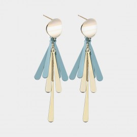 Caromay Fringe Blue Earrings (E3511)