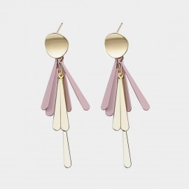 Caromay Fringe Pink Earrings (E3511)