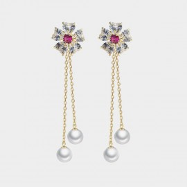 Caromay Sky Flower Rose Earrings (E3530)