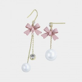 Caromay Cutie Bow Pink Hook Earrings (E3532)
