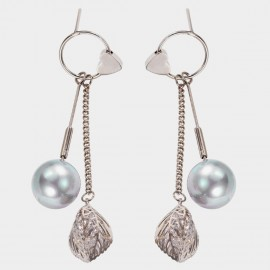 Caromay Touched Heart Grey Earrings (E3553)