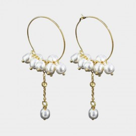 Caromay Flower Cluster Gold Earrings (E3556)