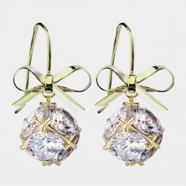 Caromay Tomorrow World Champagne-Gold Earrings (E3576)