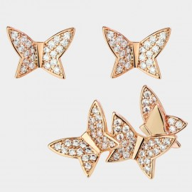 Caromay Full Butterfly Rose-Gold Earrings (E3587)