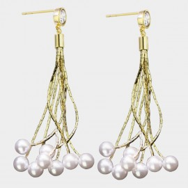 Caromay Past Stories Champagne-Gold Earrings (E3607)