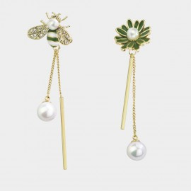 Caromay Bee Daisy Green Earrings (E3609)
