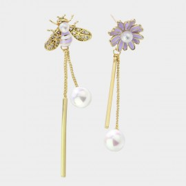 Caromay Bee Daisy Lilac Earrings (E3609)