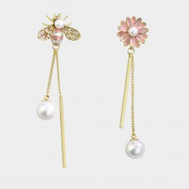 Caromay Bee Daisy Pink Earrings (E3609)