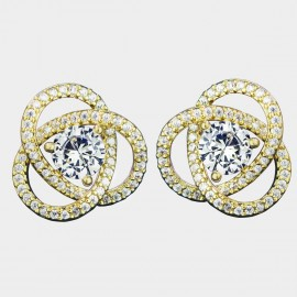 Caromay Star Track Champagne-Gold Earrings (E3627)