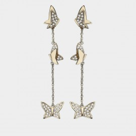 Caromay Butterfly Vine Champagne-Gold Earrings (E3644)