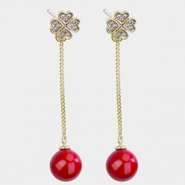 Caromay Moore Red Earrings (E3651)
