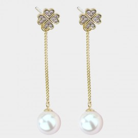 Caromay Moore White Earrings (E3651)
